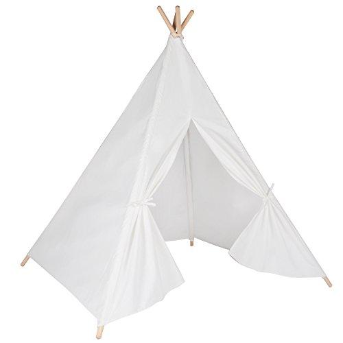 Tipi en blanc de qualité supérieure. Tente de jeu pour enfants / Cabane pour enfants / Tente indienne par integrity co
