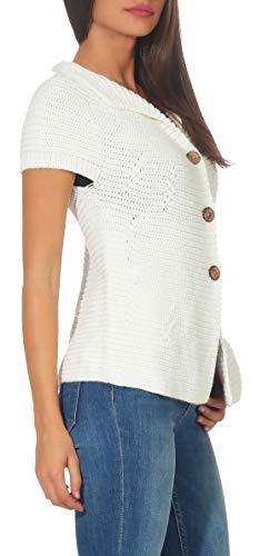 Cárdigan Largo Talla Malito Blanco Única 5060 Basic Suéter Mujer Botòn Rebeca C5WdHWR