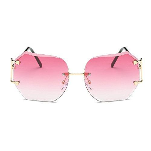 Lunettes De Soleil Covermason Hommes femmes lentille transparente verres Spectacle Metal Frame myopie lunettes Lunette Femme lunettes (rose) WaL35UP
