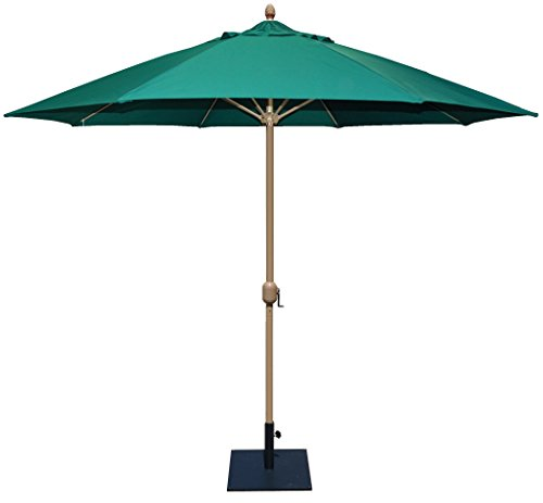 Tropishade 11' Sunbrella Patio Umbrella with Forest Green Cover (75 Base Patio Umbrella Lb)