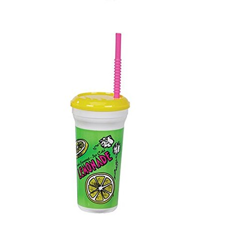 Gold Medal Heavy Duty Lemonade Plastic Cup with Lid & Straw, 32 oz (300 ct.) by Gold Medal
