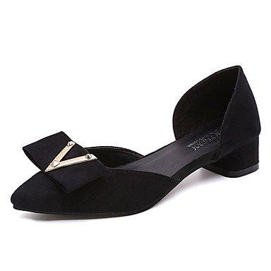 Cómodo y elegante soporte de zapatos de las mujeres pisos primavera otoño otros ante comodidad oficina y carrera vestido casual otros negro rosa gris tacón bajo Walking negro