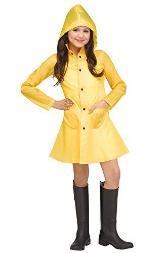 Scary Costumes Wiyh Yellow Rain Coat - Fun World Yellow Raincoat Child