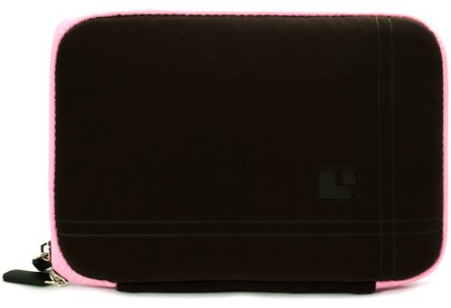 Pink Brown Limited Edition Stylish Sleeve Premium Cover Case with Aerotechnology Protection and with front pocket for accessories For Barnes & Noble NOOK COLOR eBook Reader Tablet + Includes a eBigValue (TM) Determination Hand Strap + Includes a Crystal C