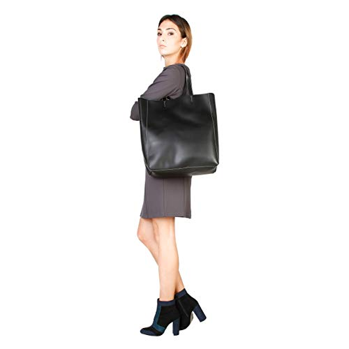 In Women Bag Genuine Italia Black Shopping Made Designer wfqTSw