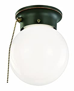 High Quality Design House 519264 1 Light Ceiling Light With Pull Chain, Oil Rubbed Bronze