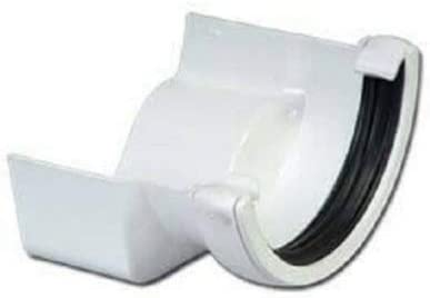 White Right Hand FloPlast Half Round to Cast Iron Ogee