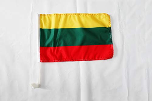 Banner 18x12 INCHES PLASTIC STICK Lithuanian Car flags 30 x 45cm AZ FLAG Lithuania Car Flag 18 x 12