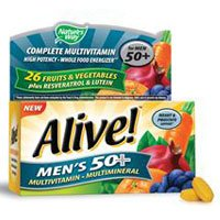 Alive Men's 50 Plus Multivitamin - Multimineral, 50 tabs (Pack of 4) ()