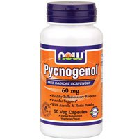Pycnogenol, 60 mg, 50 Vcaps by Now Foods (Pack of 4) by NOW Foods