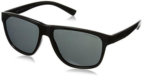 Armani Exchange Men's Injected Man Rectangular Sunglasses, Black, 58 - Armani Glasses Sun Exchange