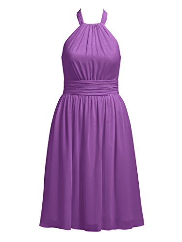 Dresses Alicepub Evening Cocktail Bridesmaid Short Dress Purple Party Halter qEFr4E