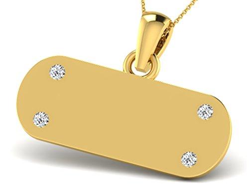Or Jaune 14 ct Pendentifs Diamant , 0.04 Ct Diamant, GH-SI, 1.06 grammes.