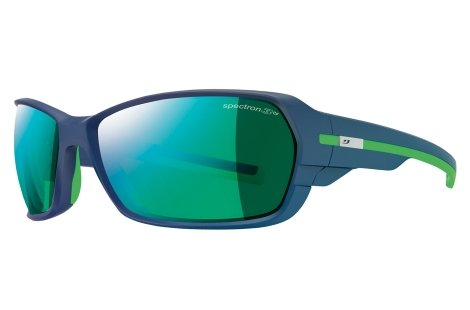 Julbo Dirt 2.0 Performance Sunglasses, Matte Dark Blue/Green, Spectron 3 CF Green Lens, - 2 Category Sunglasses