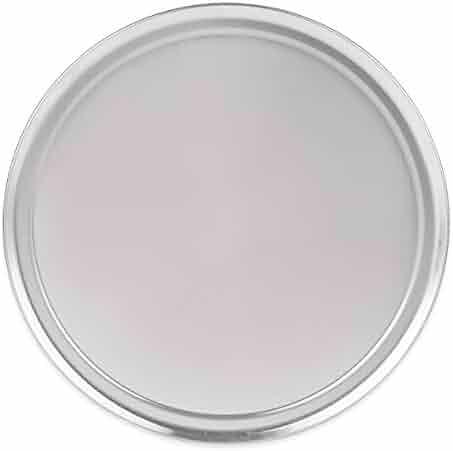 Update International PT-WR20 Aluminum Wide Rim Pizza Pan, 20 in, Polished Aluminum