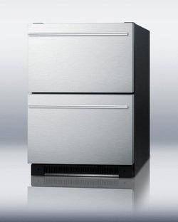 Summit SP5DS2DSSHH Built Refrigerator Stainless