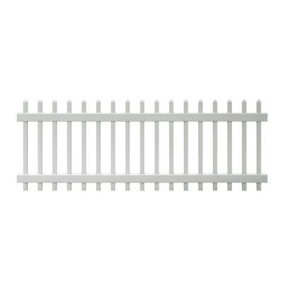 Veranda 3 ft. x 8 ft. Chelsea Spaced Picket Vinyl Fence Panel Spaced Picket Fence