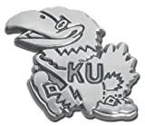 Elektroplate University of Kansas Jayhawks NCAA Chrome Plated Premium Metal Car Truck Motorcycle Emblem