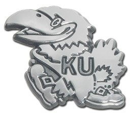 Elektroplate University of Kansas Jayhawks NCAA Chrome Plated Premium Metal Car Truck Motorcycle Emblem by Elektroplate