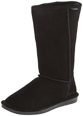 BEARPAW Women's Emma Tall Winter Boot, Black, 10 M US