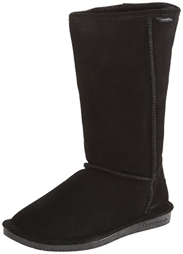 BEARPAW Women's Emma Tall Winter Boot, Black, 9 M US