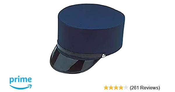 Amazon.com  Adult Navy Blue Train Engineer Conductor Driver Hat Costume  Accessory  Toys   Games 8771bac3116