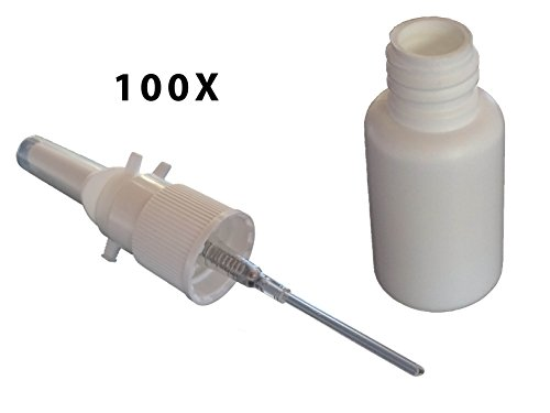 Pharma-quality Nasal Pump Sprayers, 20ml, Empty, Unassembled, No Label, Bulk Discount 100-pack