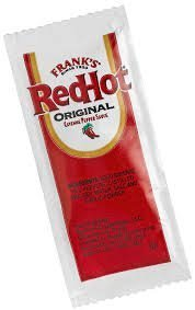 Frank's Red Hot Original Cayenne Pepper Sauce, 7-gram Pouch (100) Packets