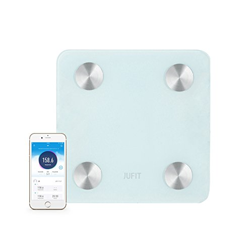 JUFIT Digital Body Weight Bathroom Scale Weight Loss Tracker Body Fat Scale,400 Pounds Scales