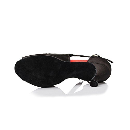 red Chaussures pour à en danse femme Sandales 3 Minitoo cm talons chaussures Mariage Latine Satin à pour Soirée wxqxgU6FT