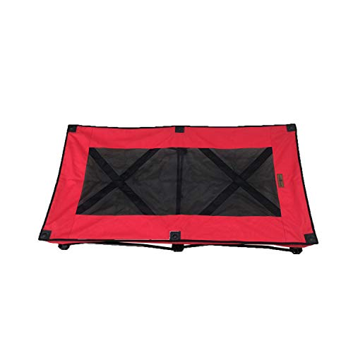 (YEPHHO Portable Large Elevated Folding Pet Bed Travel Sleeping Cot 47 Inches Long (Red))