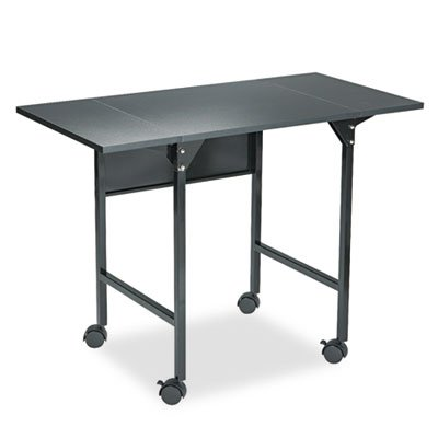 Mobile Machine Stand w/Drop Leaves, Two-Shelf, 36w x 18d x 26-3/4h, Black, Sold as 1 Each by Generic (Image #1)
