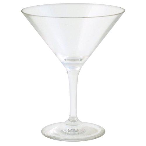 Strahl Design+Contemporary 12-Ounce Martini Glass, Set of 4 (Martini Polycarbonate Glass)