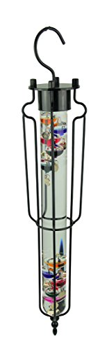 Russco III Glass Outdoor Thermometers 22 Inch Hanging Glass Galileo Thermometer 4 X 22.5 X 4 Inches Multicolored ()