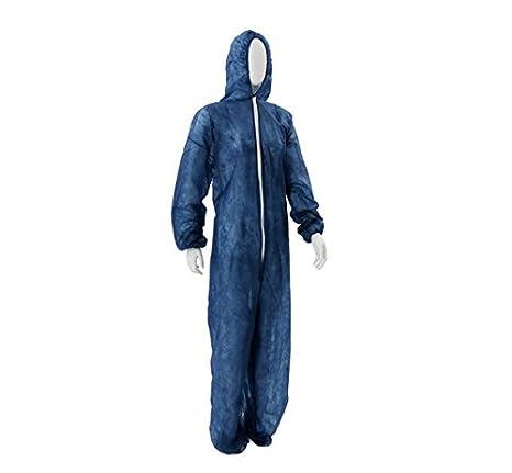 10 x Mono Tamaño L AMPRI Azul con cremallera y capucha ...