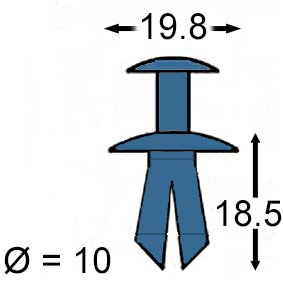 91503-SZ3-003 ; 91503SZ3003 20 Sto/ßstangen Befestigungs Clips