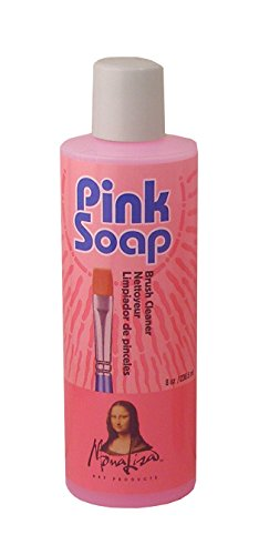 (Speedball Pink Soap Brush Cleaner 8 fl oz)
