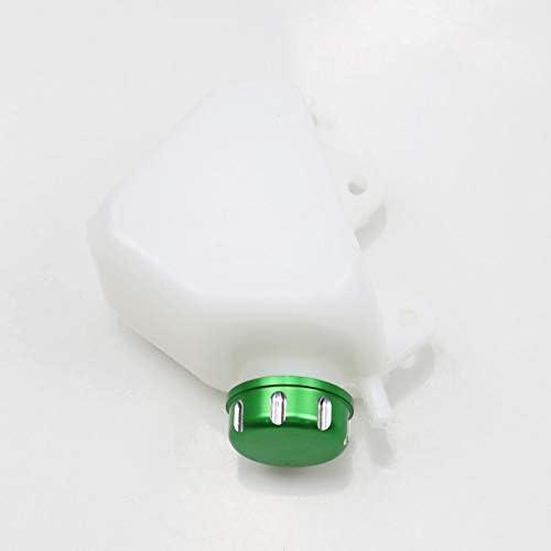 BHYShop ABS Botella de refrigerante de plástico Depósito Desbordador del radiador para Kawasaki KLX250 KLX 250 1994-07 (Verde)