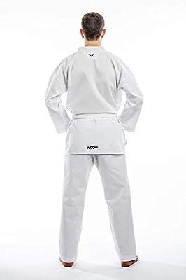 Tusah Taekwondo Traje Starter WTF Certificado Dobok con Solapas Blancas