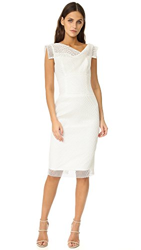 Bonded Black Anniversary Sheath White Mesh Collection Women O Dress s Natural Halo Jackie XfX4r0q
