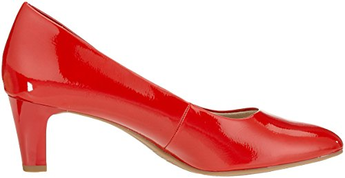Tamaris Women's 22493 Closed Toe Heels, White Red (Chili Patent 520)