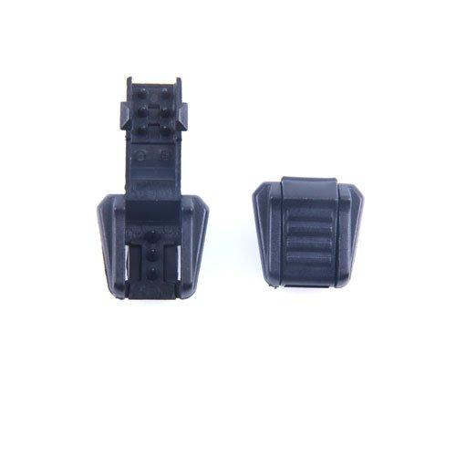 50pcs Zipper Pull Cord Ends Black