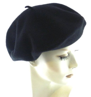 Classic Wool Beret By Parkhurst, Black