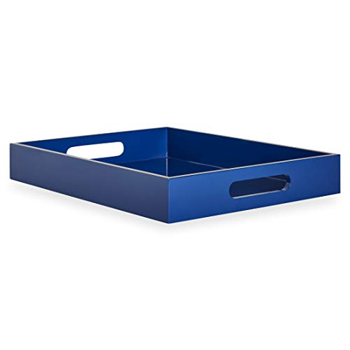 Now House by Jonathan Adler Chroma Lacquer Rectangular Tray, Blue ()