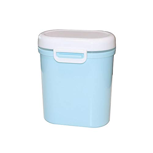 Portable Milk Powder Dispenser with Scoop   Formula Storage Box, Food Candy Container   BPA Free (Gift for Kids and Mom) (Blue, Large)