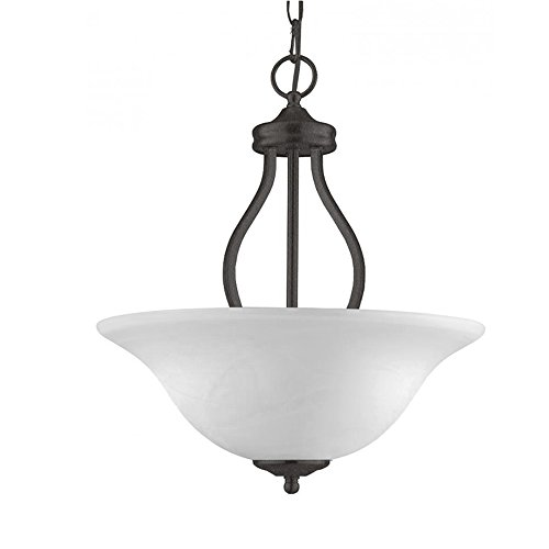 Transglobe Lighting PL-10008 AGB Pendant with White Glass Shades, Antique Bronze Finish