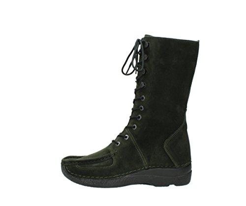Wolky Comfort Halbhohe Stiefel Roll Fashion 40730 forest Veloursleder