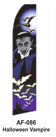 HPP 11-1/2' X 2-1/2' Brand New Advertising Tall Flag- Halloween Vampire