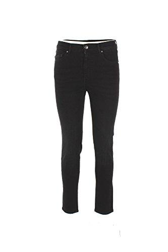 0/ZERO CONSTRUCTION Jeans Donna 25 Nero Doroty/1s Ln502 Autunno Inverno 2017/18