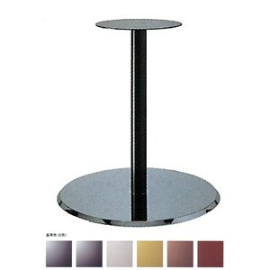 e-kanamono テーブル脚 フラットS7410 ベース410φ パイプ50.8φ 受座280φ クローム/塗装パイプ 高さ700mmまで ジービーメタリック B012CF96N2 ジービーメタリック ジービーメタリック
